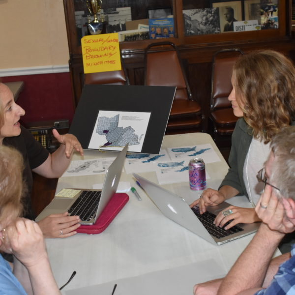 CAFTA Summit #2, Aug 24, 2019, Matewan WV.  L to R:  Theresa Colvin, Danille Christensen, Nicole Musgrave, Steven Kruger. Photo by Trent Reid.