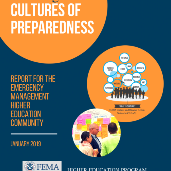 Developing Culture(s) of Preparedness: The Important Role of Culture in FEMA's Strategic Plan – September 20, 2018